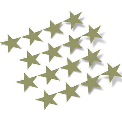 Olive Green Stars Vinyl Wall Decals