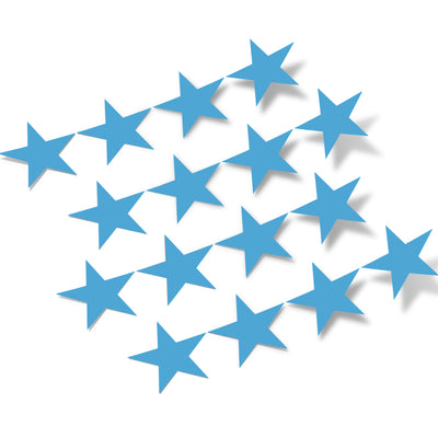 Ice Blue Stars Vinyl Wall Decals