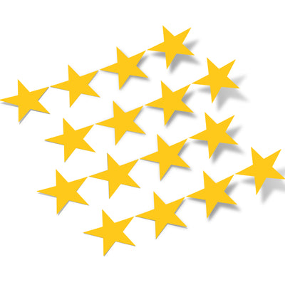 Yellow Stars Vinyl Wall Decals