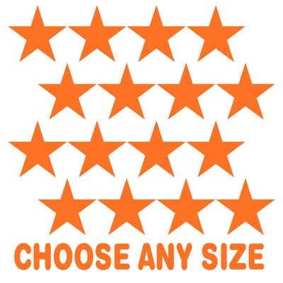 Orange Stars Vinyl Wall Decals