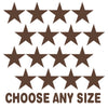 Chocolate Brown Stars Vinyl Wall Decals