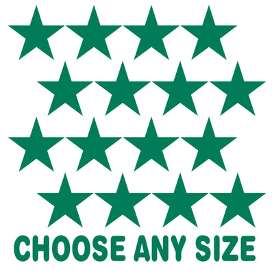 Green Stars Vinyl Wall Decals