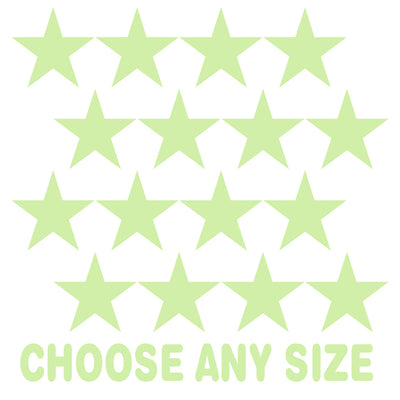 Baby Green Stars Vinyl Wall Decals
