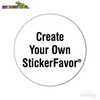 StickerFavor® Create Your Own Circle Vinyl Decal Sticker Pack | StickerFavor® | DecalVenue.com