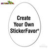 StickerFavor® Create Your Own Egg Shape Vinyl Decal Sticker Pack | StickerFavor® | DecalVenue.com