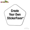 StickerFavor® Create Your Own Pentagon Shape Vinyl Decal Sticker Pack | StickerFavor® | DecalVenue.com