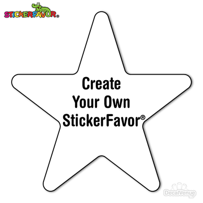 StickerFavor® Create Your Own Star Vinyl Decal Sticker Pack | StickerFavor® | DecalVenue.com