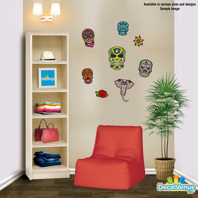 Sugar Skull Decal [005]-Shapes & Patterns-Decal Venue