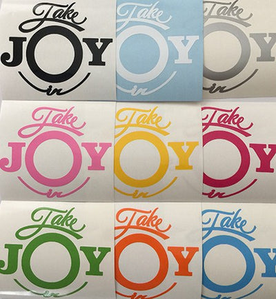 Take Joy In Pig Decal-Animals-Decal Venue