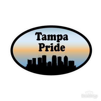 Tampa Pride Oval Decal | Family & People | DecalVenue.com