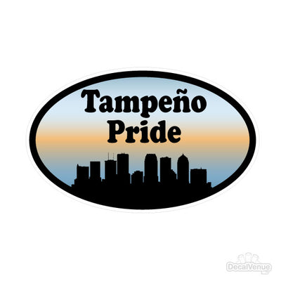 Tampeño Pride Oval Decal | Family & People | DecalVenue.com