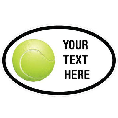 Personalized Tennis Oval Decal | Custom / Personalized | DecalVenue.com