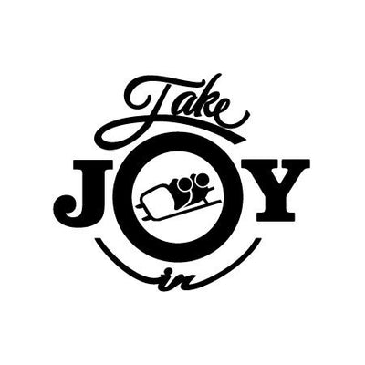 Take Joy In Bobsled Decal | Sports & Hobbies | DecalVenue.com