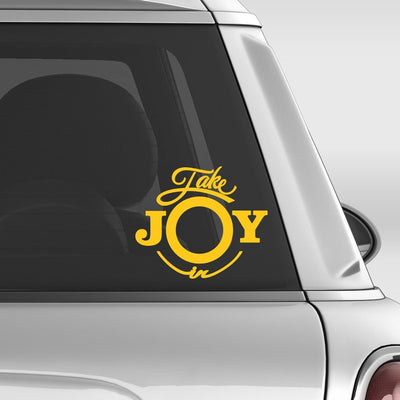 Take Joy In Cat Paw Print Decal | Animals | DecalVenue.com
