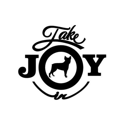 Take Joy In Dog Boston Terrier Decal | Animals | DecalVenue.com