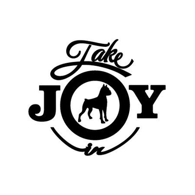 Take Joy In Dog Boxer Decal | Animals | DecalVenue.com