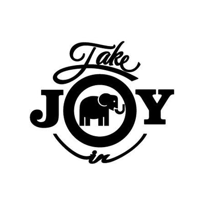 Take Joy In Elephant Decal-Animals-Decal Venue