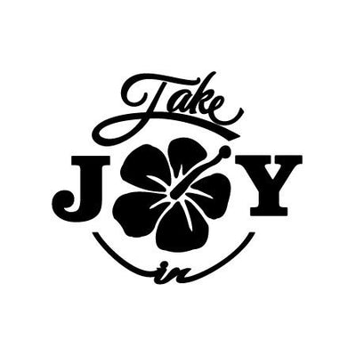 Take Joy In Hibiscus Flower Decal-Nature & Nautical-Decal Venue