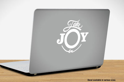 Take Joy In Tennis Decal | Sports & Hobbies | DecalVenue.com