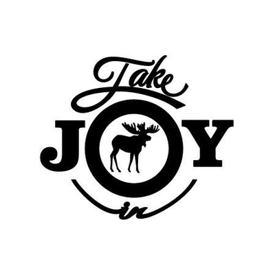 Take Joy In Moose Decal | Animals | DecalVenue.com