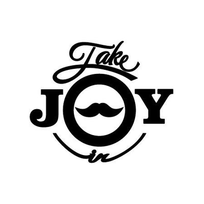 Take Joy In Mustache Decal | Family & People | DecalVenue.com