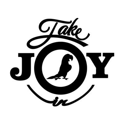 Take Joy In Parakeets Decal | Take Joy In | DecalVenue.com