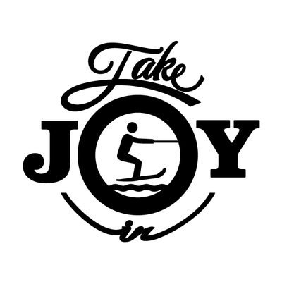 Take Joy In Water Skiing Decal | Take Joy In | DecalVenue.com