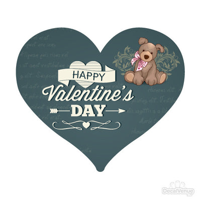 Happy Valentine's Day Heart Decal | Quotes, Phrases & Sayings | DecalVenue.com