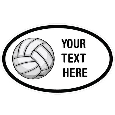 Personalized Volleyball Oval Decal | Custom / Personalized | DecalVenue.com