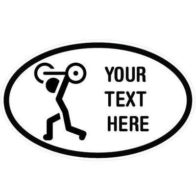 Personalized Weightlifting Oval Decal | Custom / Personalized | DecalVenue.com