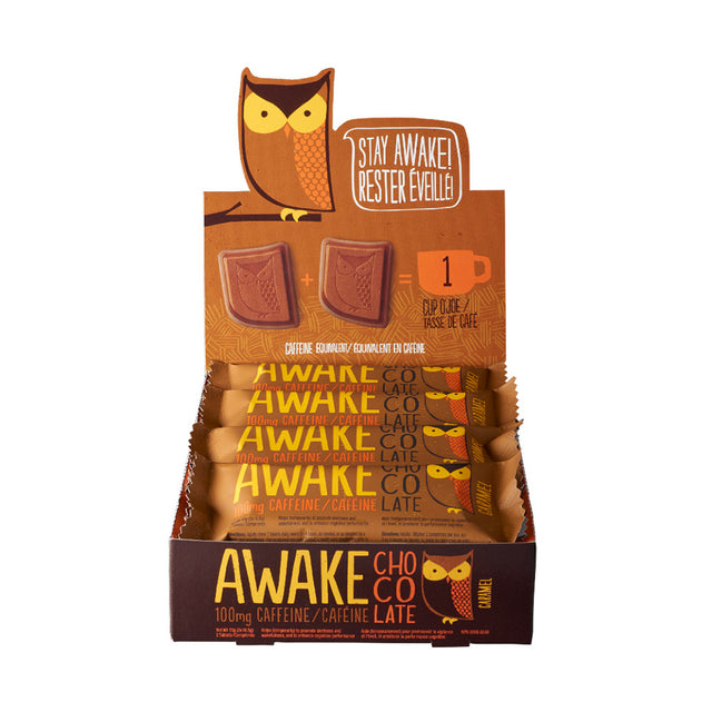 Caramel Chocolate Bars - AWAKE Energy Canada
