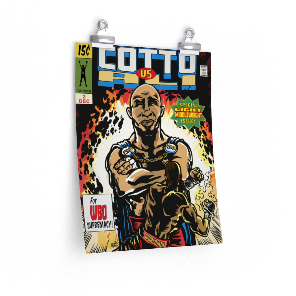 Miguel Cotto vs Sadam Ali Comic book posters