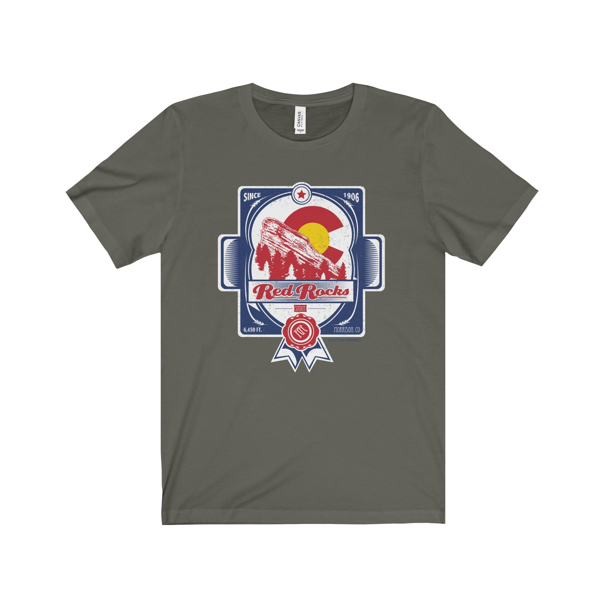 Red Rocks Beer label - T-Shirt