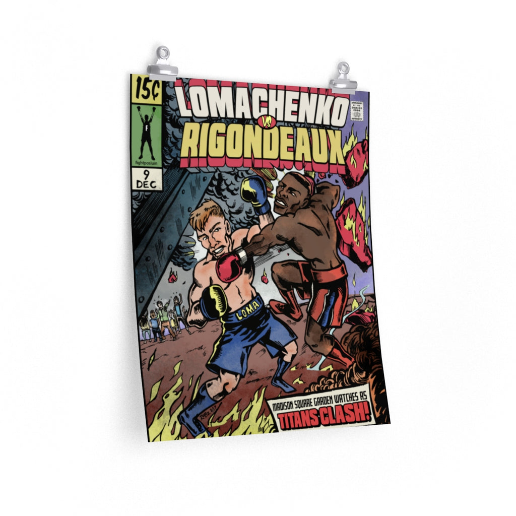 Lomachenko vs Rigondeaux Comic book cover  posters