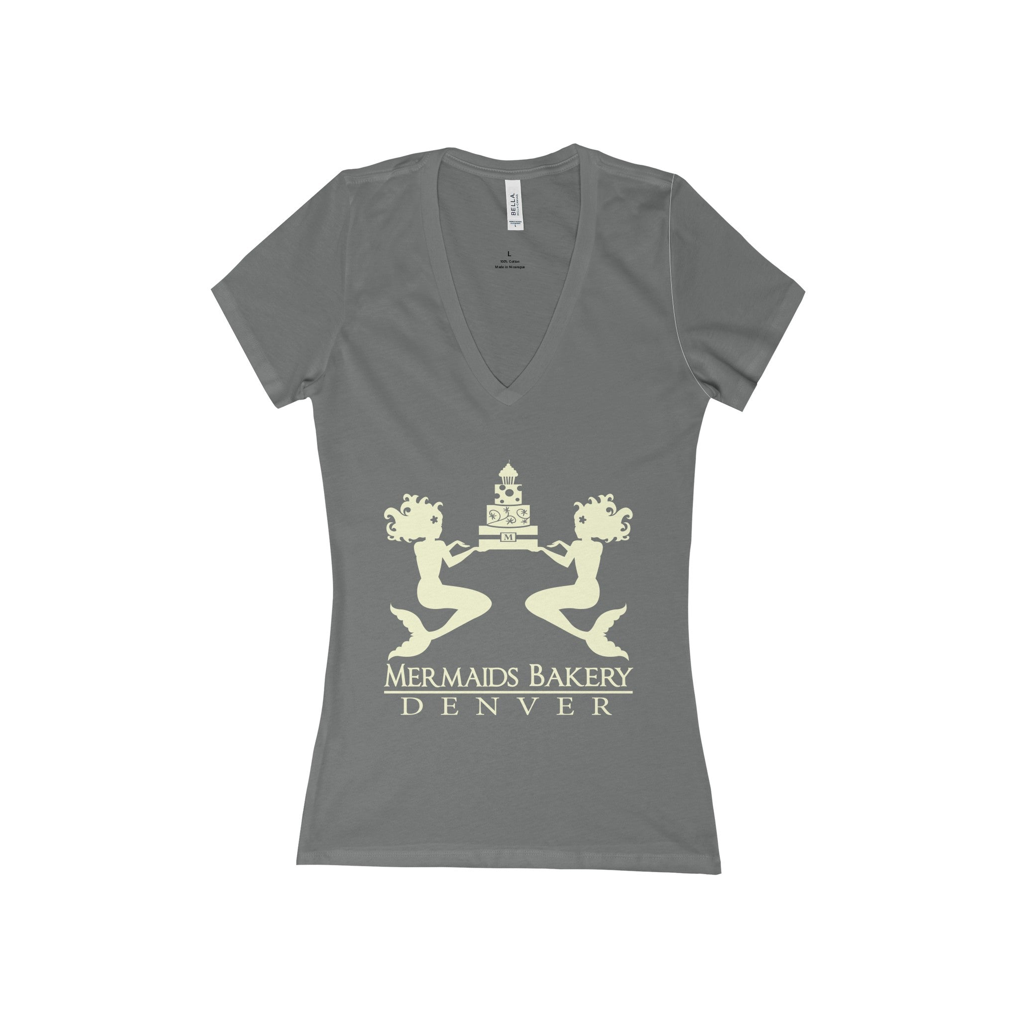 Mermaid's Bakery V-Neck Jersey Tee