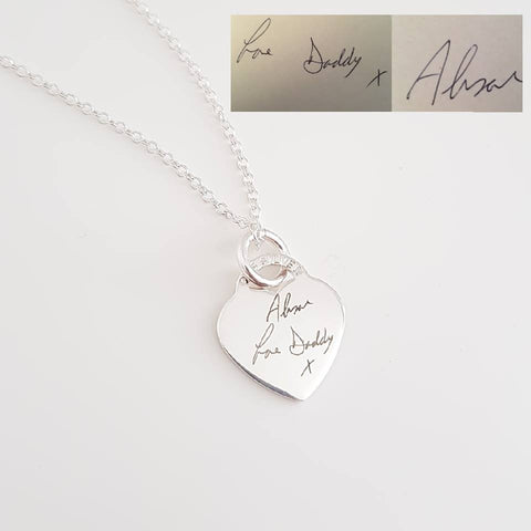 Sterling Silver Necklace (Custom Engraving)