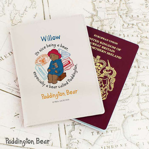Personalised Paddington Bear Passport Cover