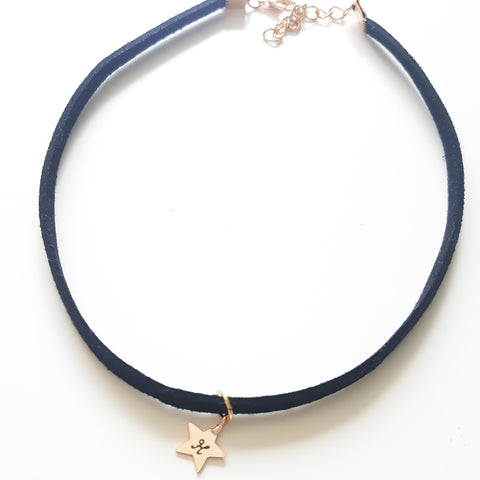 Personalised Black Suede Choker