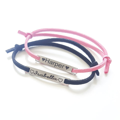Personalised Suede Bar Bracelet