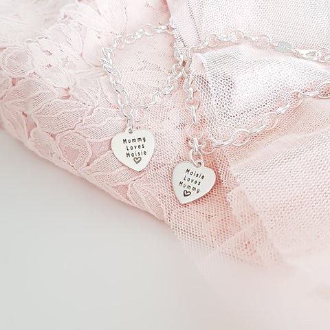 Sterling Silver My Mummy & Me Set (Set of 2)