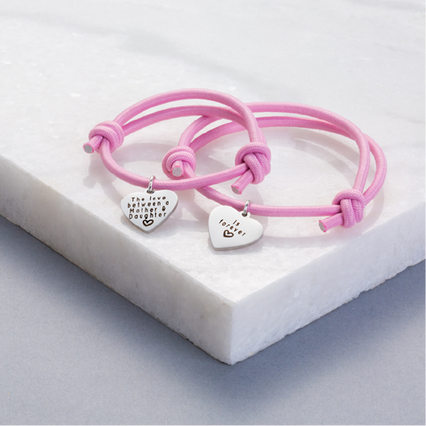Premium Personalised Double Sided Bracelet Set (Set of 2)