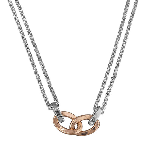 Two-Tone Link Necklace