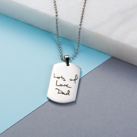 Personalised Handwriting Mens Necklace
