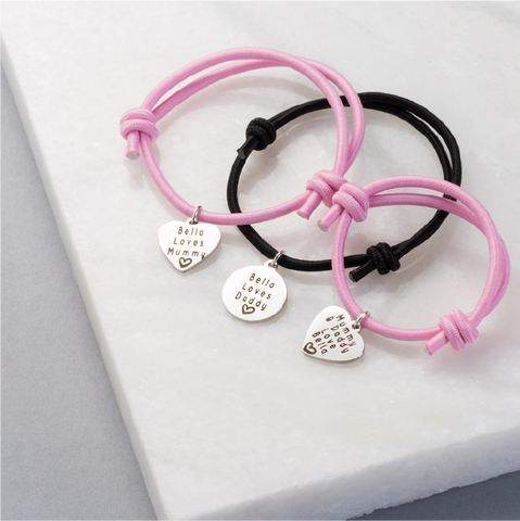 Premium Mummy, Daddy & Me Bracelets (Set of 3)