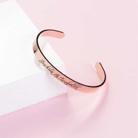 Actual Handwriting Personalised Bangle