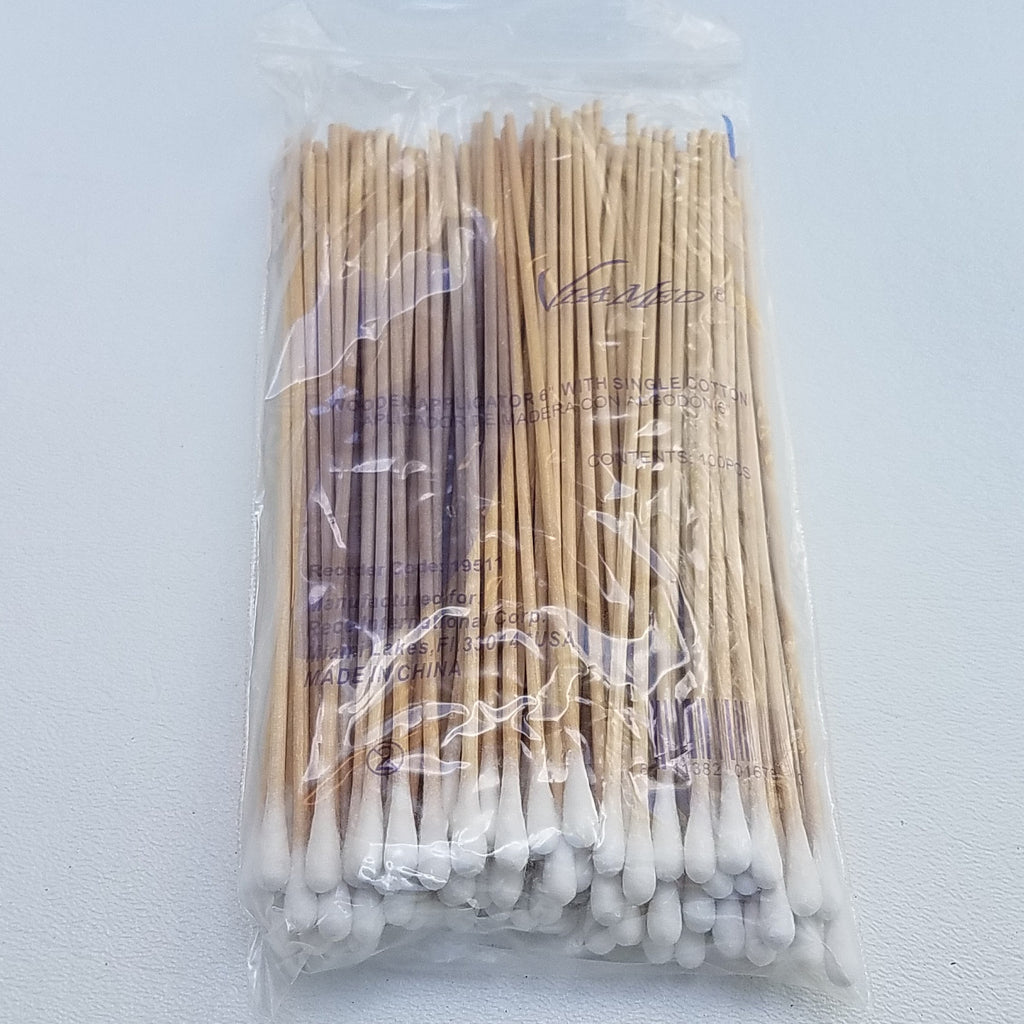 500 Cotton Swabs Applicator W Long Wood Handle Q Tip 6