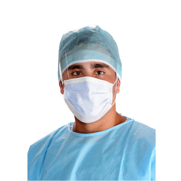 50 Disposable Ear Loop Face Mask With Anti Fog Eye Shield