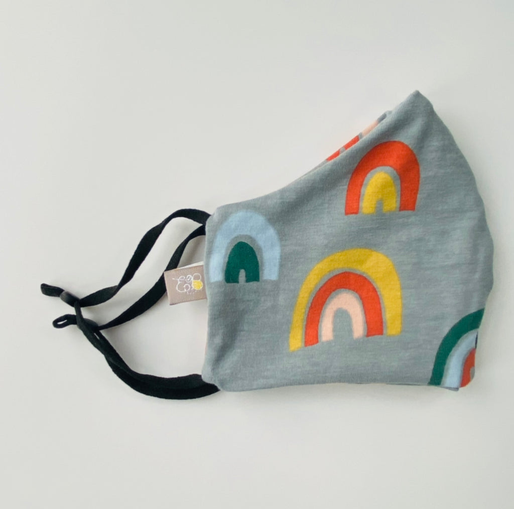 "Grey ""Over the Rainbow"" Adult Face mask"