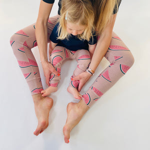 Dusty Rose 'Watermelon' Adult Organic cotton leggings