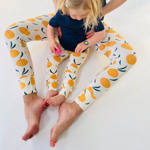 Cream 'Clementine Grove' Adult Organic cotton leggings